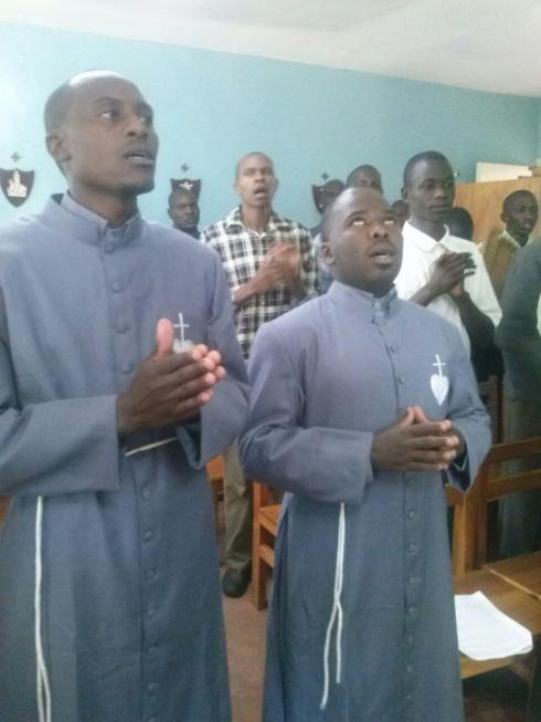 Seminarians students of Contemplative Evangelizers of the Heart of Christ at the seminary in Nairobi ,Kenya