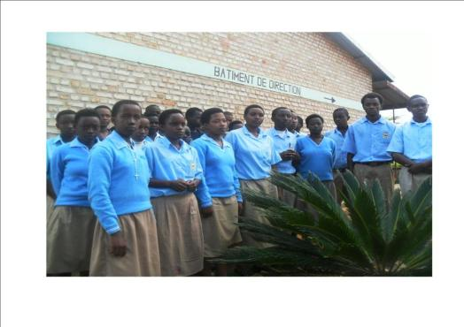 secondary students in uniform at the orphanage of dr. jean bosco in gitarama , rwanda